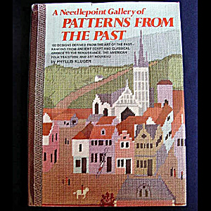 Hardcover Book A Needlepoint Gallery Of Patterns From The Past, Phyllis Kluger