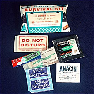 Lions Club 1965 Convention Survival Kit