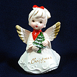 Christmas 1974 Japan Porcelain Ponytail Angel Figurine