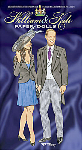 William And Kate Paper Dolls, Tierney 2011