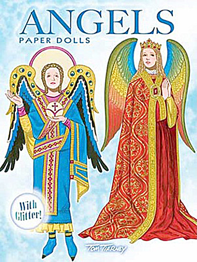 Angels Paper Dolls With Glitter, Tierney, Dover, 2010