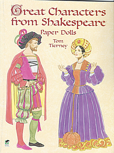 Characters From Shakespeare Paper Dolls, Tierney, Dover, 2000
