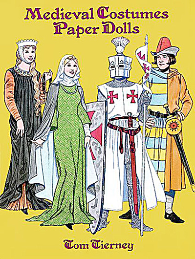 Medieval Costume Paper Dolls, Tierney, Dover