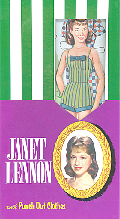 Janet Lennon Punch Out Paper Doll Set