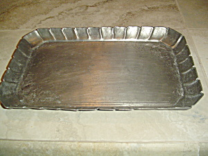 Vintage Pewter Tray From Frieling-zinn Germany Embossed