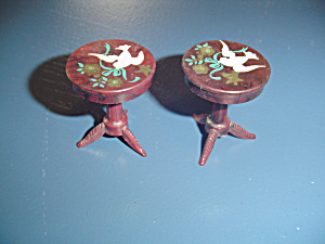 Vintage Renwal Pair Of End Tables Doll Furniture - Stencils
