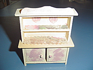 Wood Kitchen Hutch/cabinet Doll House Furniture