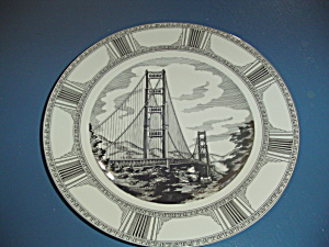 222 Fifth Slice Of Life Golden Gate Dinner Plate