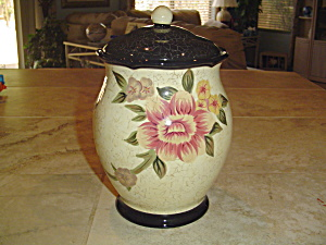 Certified International Flowered Cookie Jar Very Pretty