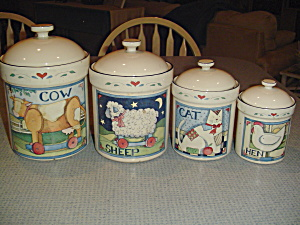 Susan Winget Farm Animal Collection Covered Canister Only Hen