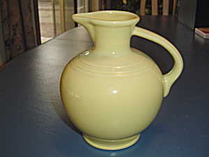 Homer Laughlin Fiesta Yellow Serving Pitcher Newer