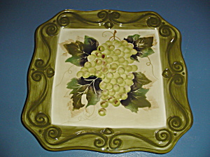 Tabletops Merlot Square Dinner Plates Green Grapes Beautiful Items
