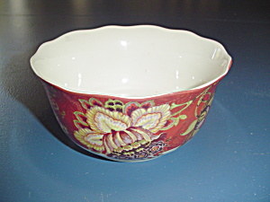 222 Fifth Gabrielle Red Cereal Bowls