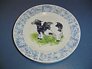 Tabletops Country Barn Cow Dinner Plate