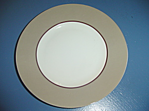 222 Fifth Symphony Taupe Dinner Plate