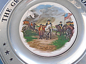 The Great American Revolution Surrender Cornwallis Pewter Plate
