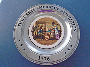 The Great American Revolution Betsy Ross Pewter Plate