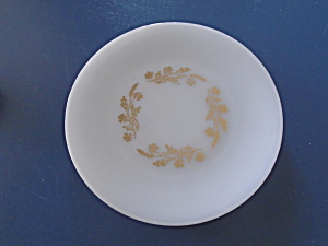 Federal Glass Meadow Gold Dinner Plate Without Gold Edge Trim