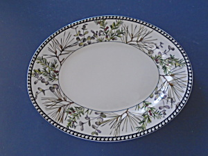 Lenox Etchings Collection English Yew Large Oval Platter