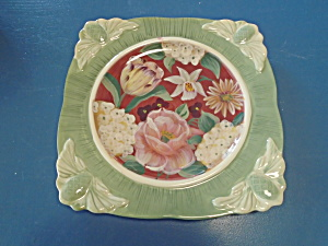 Cic Floral Tapestry Square Dinner Plates