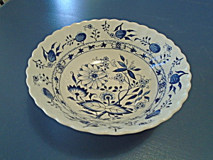 Staffordshire Blue Lily (Onion) Cereal Bowls