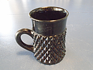 Indiana Glass Black Diamond Point Tall Mugs/tankards