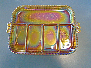 Indiana Glass Carnival 5 Compartment Relish Tray
