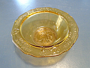 Tiara Mother Goose Nursery Rhyme Amber Cereal Bowl