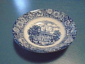 Staffordshire Liberty Blue Mount Vernon Cereal Bowls