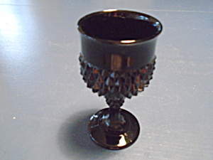 Indiana Glass Black Diamond Point Wine Goblets