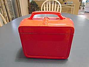 Elgen Bright Red Lunch Box Look Cookie Jar