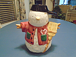 Snowman Scare Crow Cookie Jar Cute