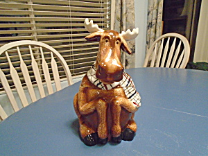 Heartfelt Ceramic Moose Cookie Jar