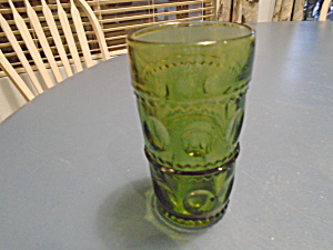 Indiana Glass Green Thumbprint Tumblers Vintage
