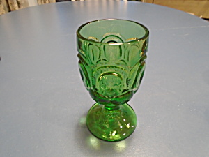 L.e. Smith Moon And Stars Green Water Goblets Vintage