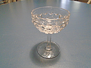 Fostoria American Clear Champagne/tall Sherbet Glasses