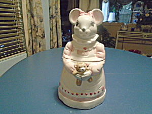 House Of Lloyd Lady Mouse Cookie Jar 1990