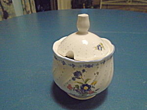 Nikko Blue Peony Covered Sugar Bowl