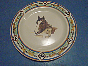 Folkcraft Tienshan Cedar Valley Stables Dinner Plates