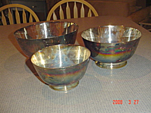 Reed And Barton Jamestown Paul Revere 3 Pc. Bowl Set Silverplate