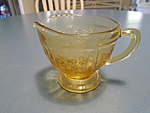 Federal Cabbage Rose Depression Glass Creamer