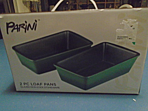 Parini New In Box Green Non Stick Loaf Pans Set Of 2