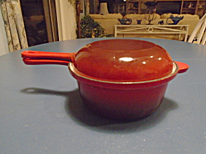 World Market Cast Iron 1 Quart Pot With Cover (Converts To Fry Pan)