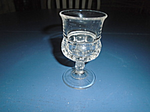 Us Glass Bull's Eye And Daisy Goblets Depression