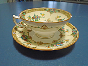 Antique Vintage Minton Eloise Cups/saucers Dated Aug. 3, 1926