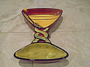 Cic Martini Glass Shaped Chips And Dip Bowl