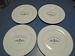 Coventry Table Graces Bible Verse Dinner Plates Set Of 4