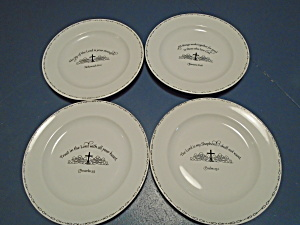 Coventry Table Graces Bible Verse Salad Plates Set Of 4