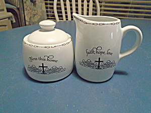 Coventry Table Graces Bible Verse Creamer/sugar Bowl