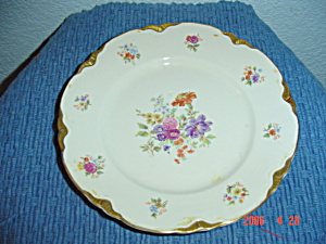Warwick Gold Scalloped Floral Pattern Salad Plates